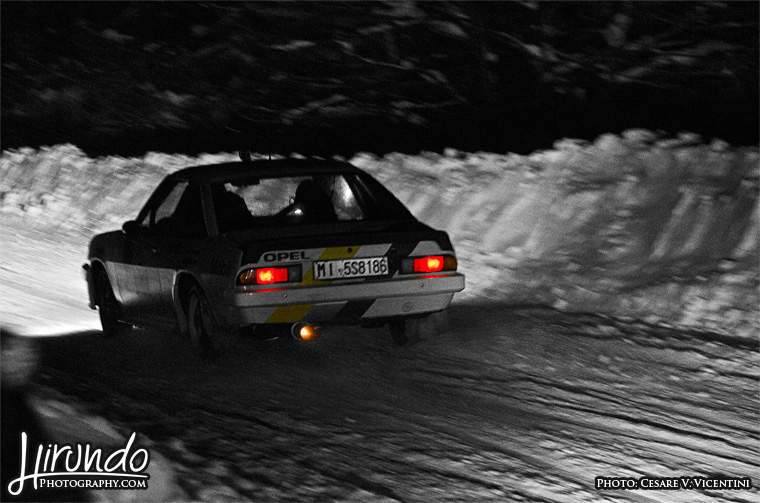 Opel Manta snow drift