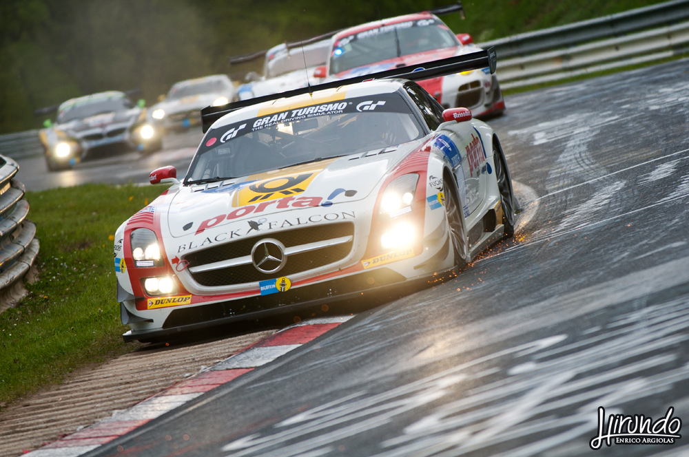 Mercedes SLS AMG GT3 Black Falcon winner