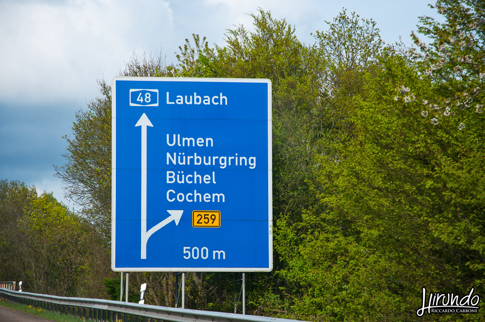 Nurburgring road sign
